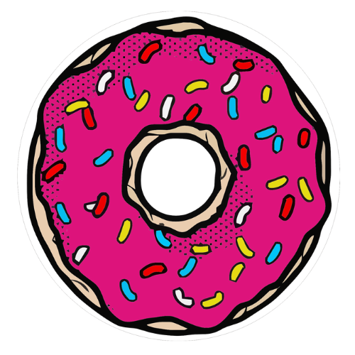 Donut Window Sticker