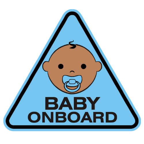 Baby On Board Blue Car Sticker