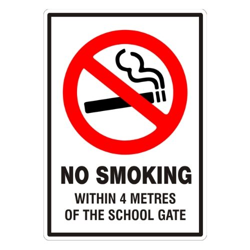No Smoking Within 4 Metres Sign