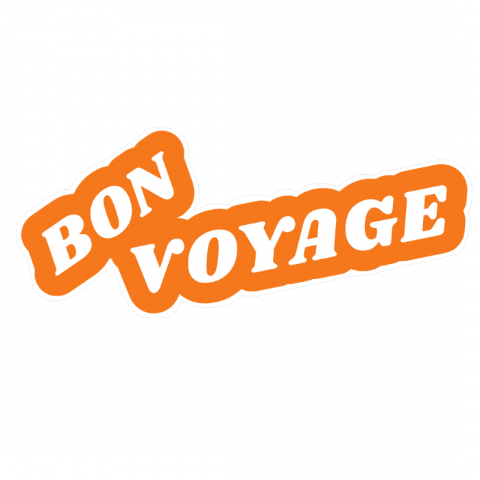 Bon Voyage Text Window Sticker