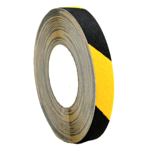 25mm x 18.3m Self Adhesive Anti-slip Tape Yellow/Black