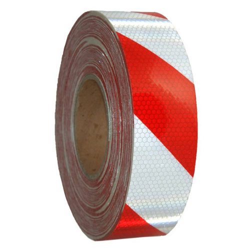 Class 1 Ultra High Reflective Red/White Tape