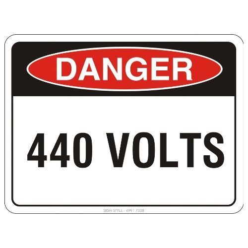 Danger - 440 Volts Sign