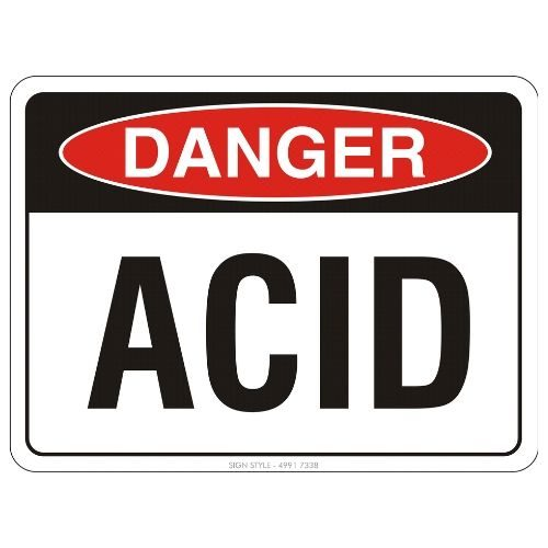 Danger - Acid Sign