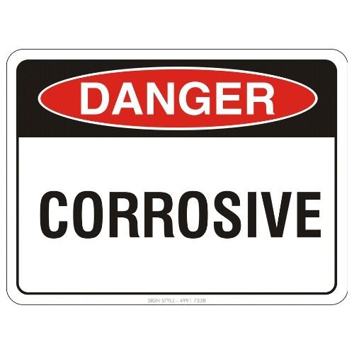 Danger - Corrosive Sign