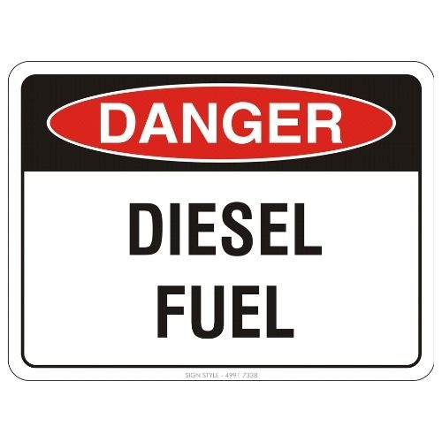 Danger - Diesel Fuel Sign