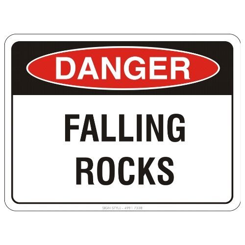 Danger - Falling Rocks Sign