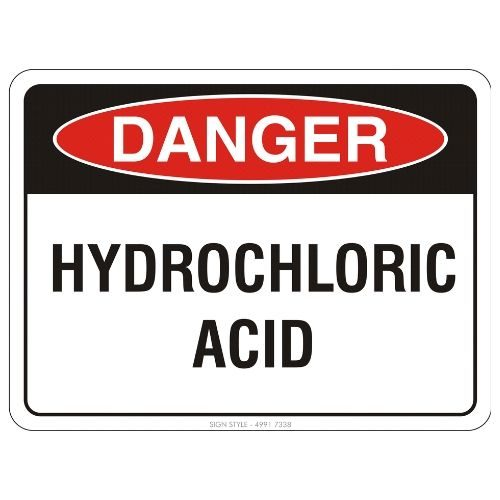 Danger - Hydrochloric Acid Sign