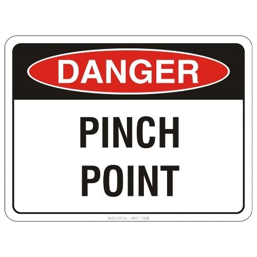Danger - Pinch Point Sign