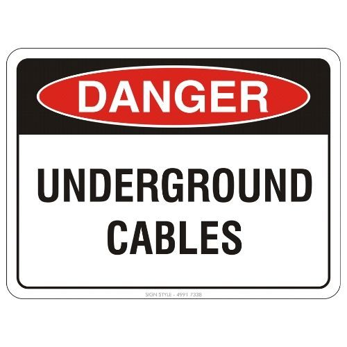 Danger - Underground Cables Sign