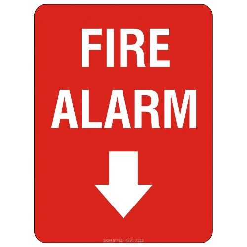 Fire Alarm (Arrow Down) Sign