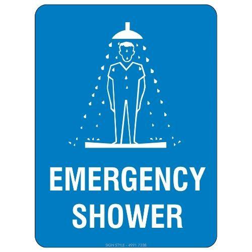 Mandatory - Emergency Shower Sign