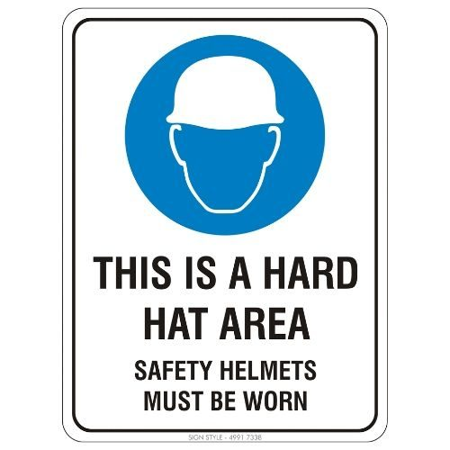 Mandatory - This Is a Hard Hat Area Sign