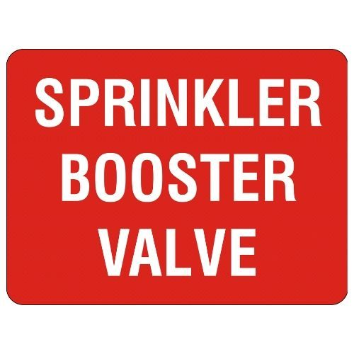 Sprinkler Booster Valve Sign