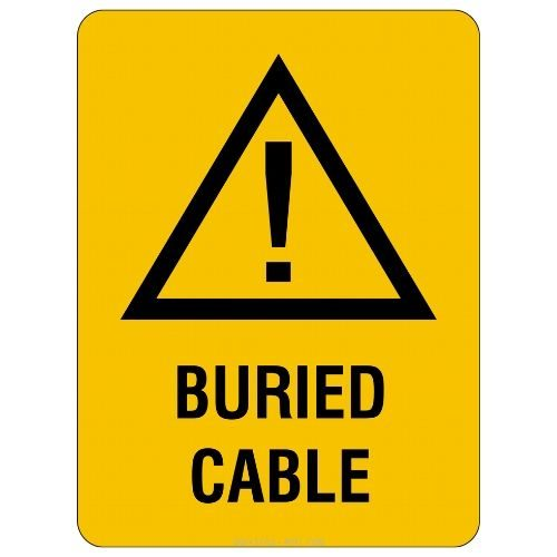 Warning - Buried Cable Sign