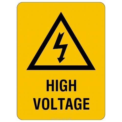 Warning - High Voltage Sign