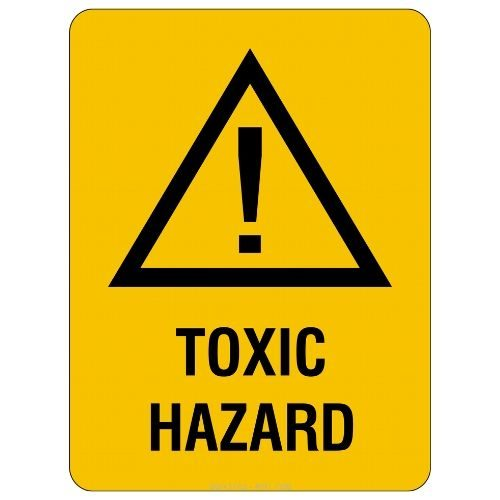 Warning - Toxic Hazard Sign