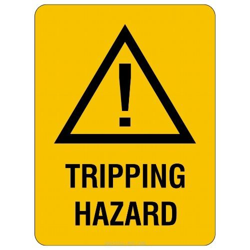 Warning - Tripping Hazard Sign