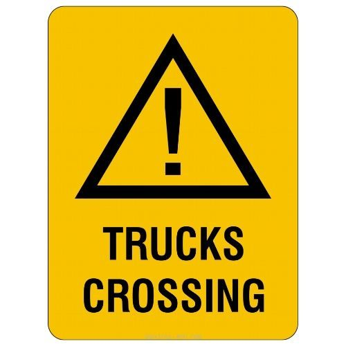 Warning - Trucks Crossing Sign
